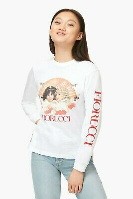 Fiorucci Long Sleeve Angels T-Shirt White SIZE XS 100% AUTHENTIC NEW!!