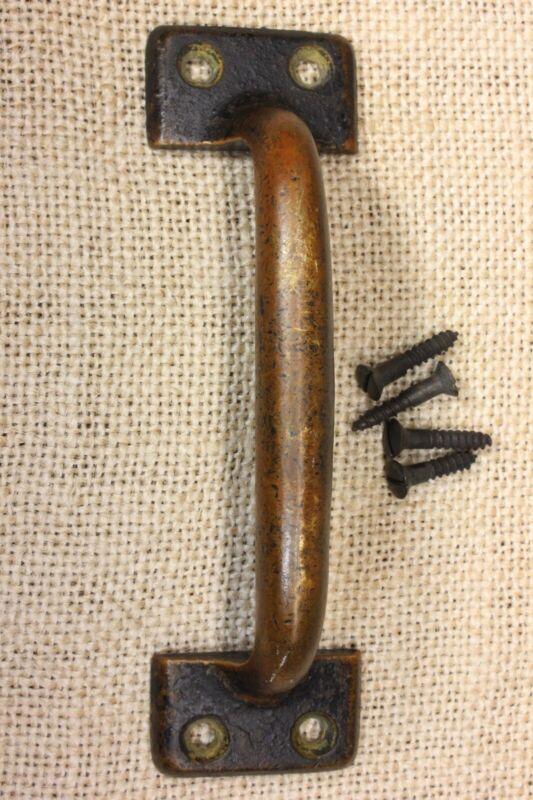 """Screen door handle 4 3//4"""" drawer pull vintage brass bronze old rustic primitive"""