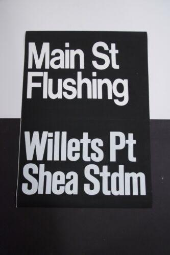 1980s New York City Subway Shea Stadium Sign Mets Flushing Redbird IRT NYCTA