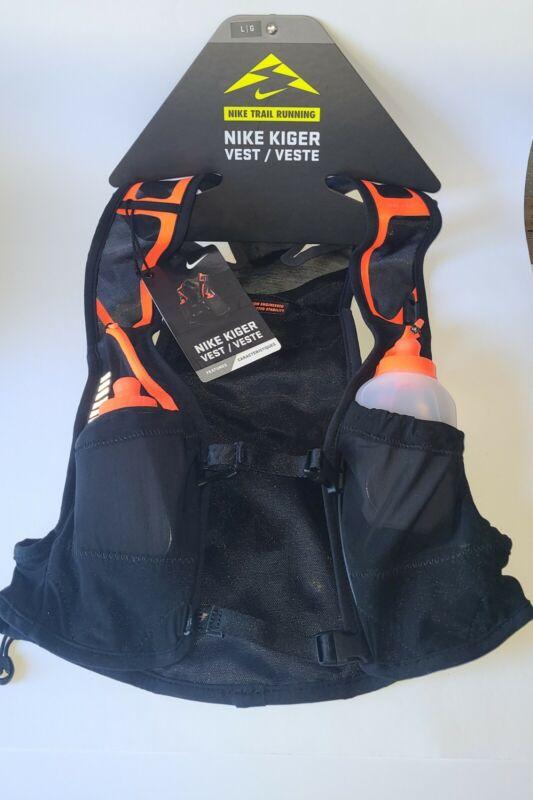 Nike Trail Kiger Vest Running Black & Orange (Size: L) $185 Retail