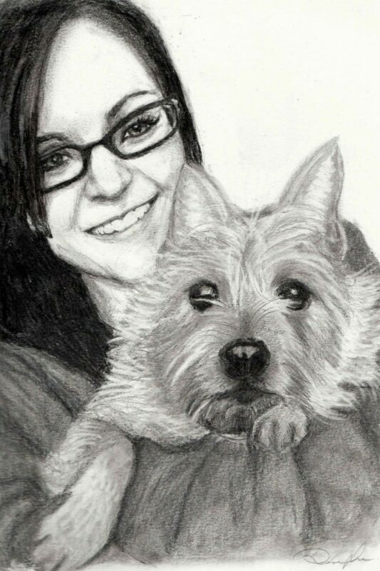 Hand Drawn Pencil Portraits - People, Pets, Animals, Scenes, Characters etc
