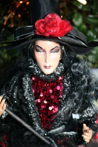 Halloween WITCH doll sitting shelf sitter