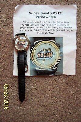 Super Bowl Xxxiii Wrist Watch