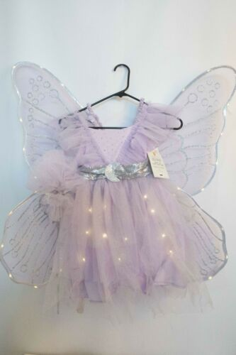 Pottery Barn Kids 3T Lavender Butterfly Fairy Costume  NWT