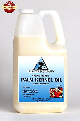 PALM KERNEL OIL ORGANIC CARRIER COLD PRESSED SUSTAINABLE NATURAL 100% PURE 7 LB