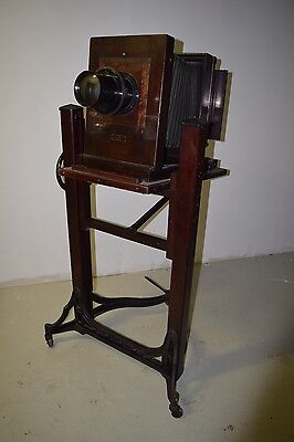 "Antique Eastman Kodak 10a Century Studio Camera Wollensak 18"" and 1a Stand"