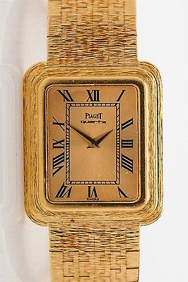 Vintage 1970s Piaget 18k Yellow Gold Mens Dress Watch 70g RARE MODEL