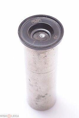 Zeiss 4x No.1 Nickel Plated Eyepiece Microscope Ocular Lens
