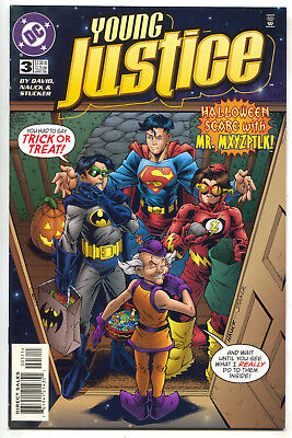 Young Justice 3 DC 1999 NM Halloween Costume Superman Batman Flash