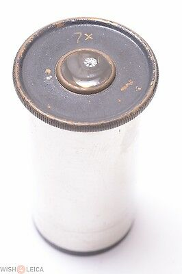 Winkel Zeiss Leitz Reichert Nickel 7x Eyepiece Microscope Ocular Lens