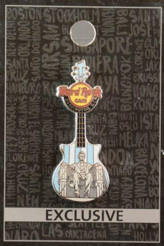Hard Rock Cafe Washington DC Lincoln Memorial Guitar Pin, new on card & in bag