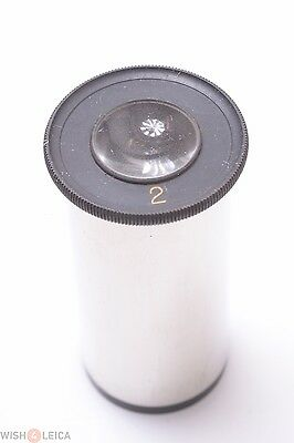 Leitzzeiss Reichert Nickel Plated No. 2 Eyepiece Microscope Ocular Lens