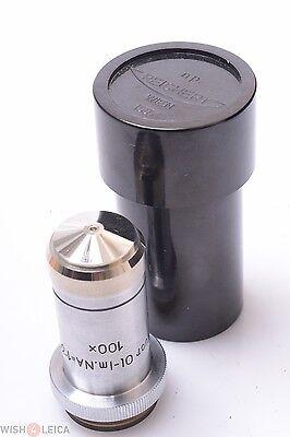 Reichert Fluor 1001 100x Na1.30 Oil Immersion Microscope Lens