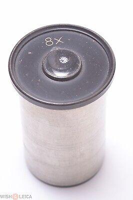 Winkel Zeiss Leitz Nickel Plated 8x Eyepiece Microscope Ocular Lens