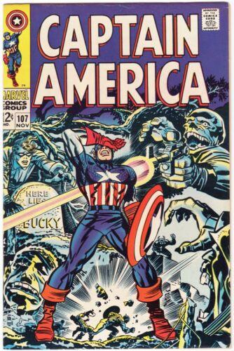 Captain America #107 (1968) Red Skull & Hitler Cover Scans
