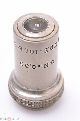 A.n. 16mm Tube 160mm G10 O.n.30 Microscope Lens Zeiss Leitz Reichert