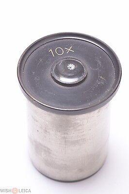 Reichert Zeiss Leitz Nickel Plated 10x Eyepiece Microscope Ocular Lens