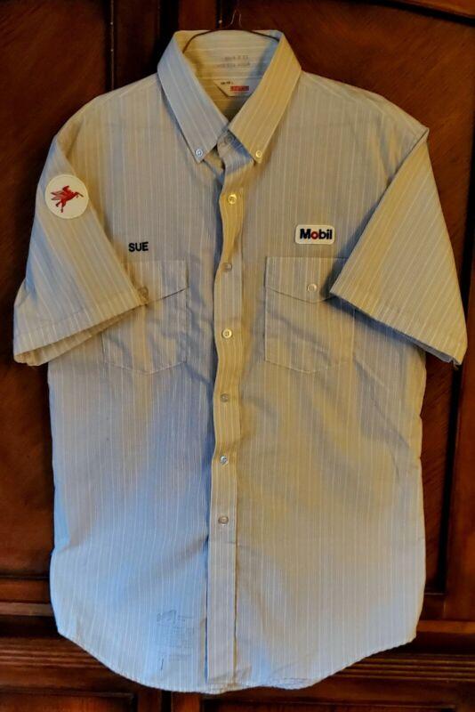 Vintage Gas Station MOBIL PEGASUS Shirt Service Attendant Unitog 60