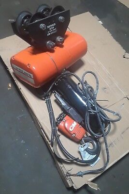 CM Hoist 2 Speed Model R2 - 2 Ton Electric Chain Hoist with Trolley with (Speed Chain Hoist)