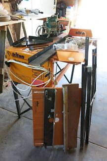 Triton MK3 Table saw and Table Router + more