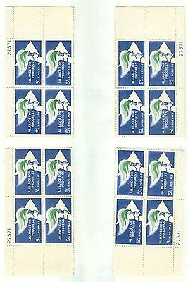 Us 1234 Alliance For Progress  5C Set Of 4 Pb  Mnh Issued 1963   27571