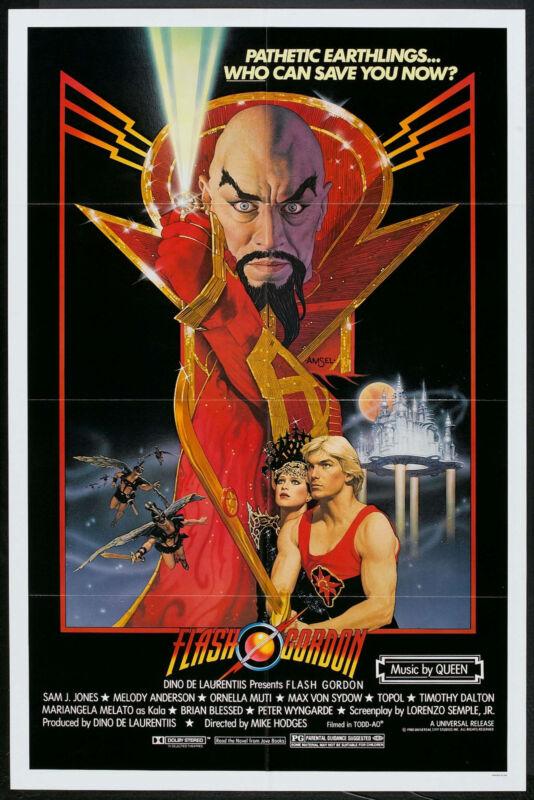FLASH GORDON original 1980 movie poster QUEEN/SAM J. JONES/ORNELLA MUTI onesheet