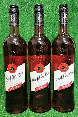(5€/l) 6x Rotwild Dornfelder rose`lieblich 0,75l Rotwein Deutschland
