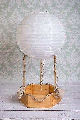 Hot Air Balloon Prop (Hot air balloon real photography props, newborn baby wood basket,)