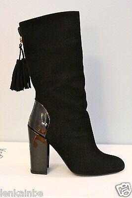 Kyпить YSL Yves Saint Laurent Aurelya 105 Black Suede Fringe Booties 36 6 $1295 на еВаy.соm