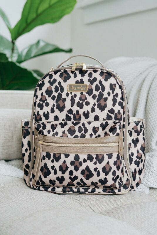 Itzy Ritzy Mini Diaper Bag Backpack - Leopard