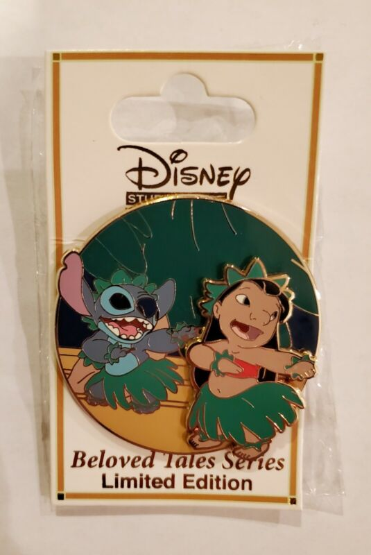 VHTF!! DSSH Disney Beloved Tales Series Lilo And Stitch LE 300 pin DSF Hula