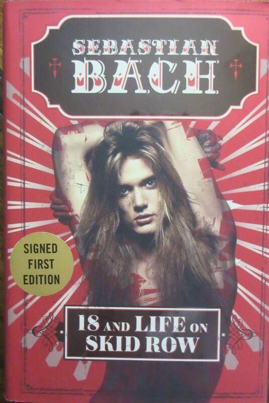 Sebastian Bach Signed Book - Beckett BAS