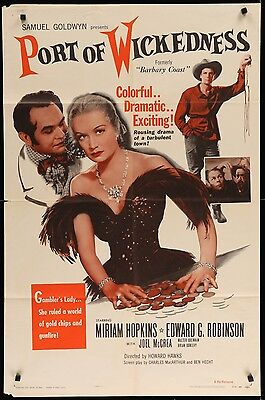 PORT OF WICKEDNESS Edward G Robinson ORIGINAL 1954 1-SHEET Movie Poster