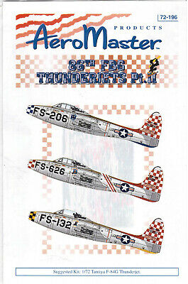 F-84G Thunderjets part 2 decals 1/72 Aero Master 72196