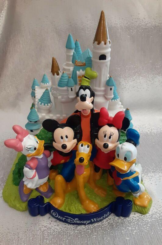 Walt Disney World Plastic Piggy Bank Castle and Disney Characters