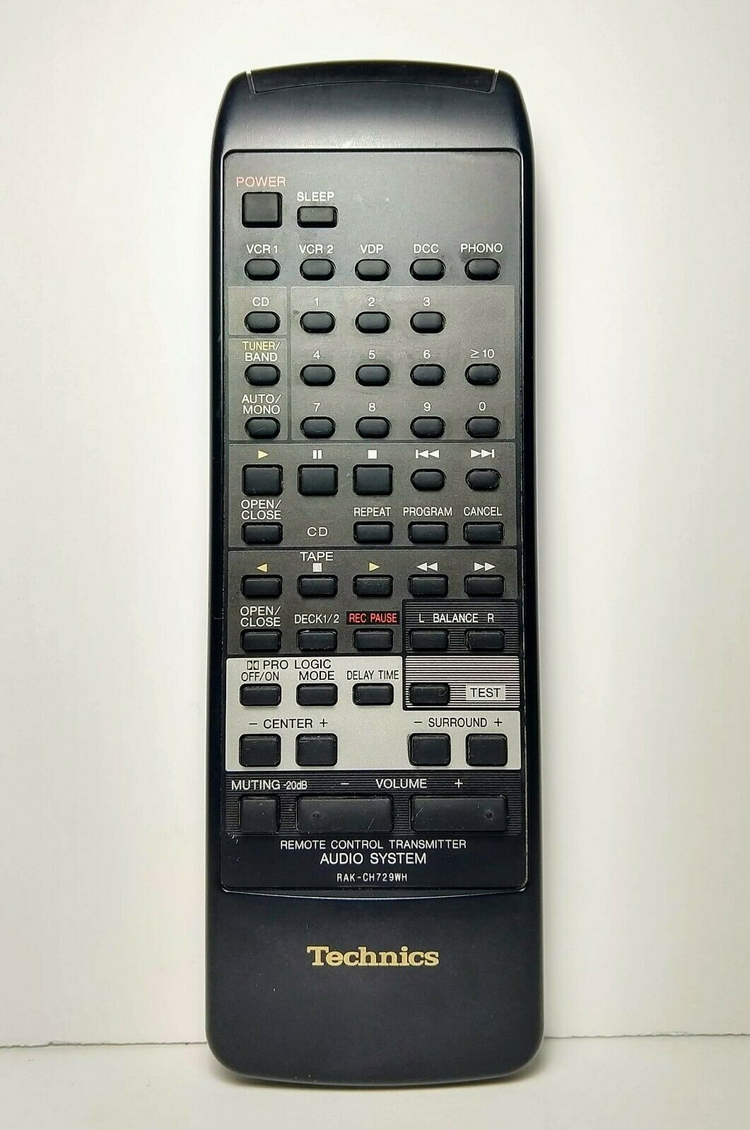 Technics RAK-CH729WH Remote Control Transmitter for SC-CA1080 Audio System