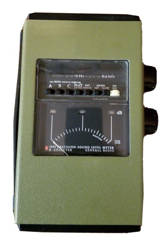 General Radio 1933 Sound Level Meter & 1961 9610 Mic
