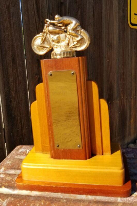 Vintage Art Deco 1950 Motorcycle Racing Trophy
