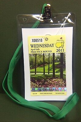 Купить 2019 Masters Ticket Badge Holder Augusta National Golf Amen Corner Azalea PGA