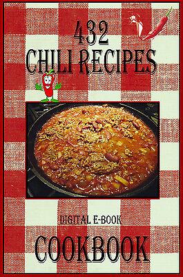432 Delicious Chili Recipes E Book Cookbook Cd Rom