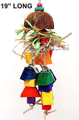 Coco Jambalaya pet parrot bird toy parrot cage toys african grey cockatoo macaw