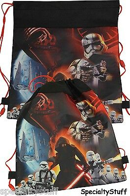 """24 DISNEY STAR WARS """"7"""" NON-WOVEN SLING BAG BACKPACK Wholesale Retail Lot"""