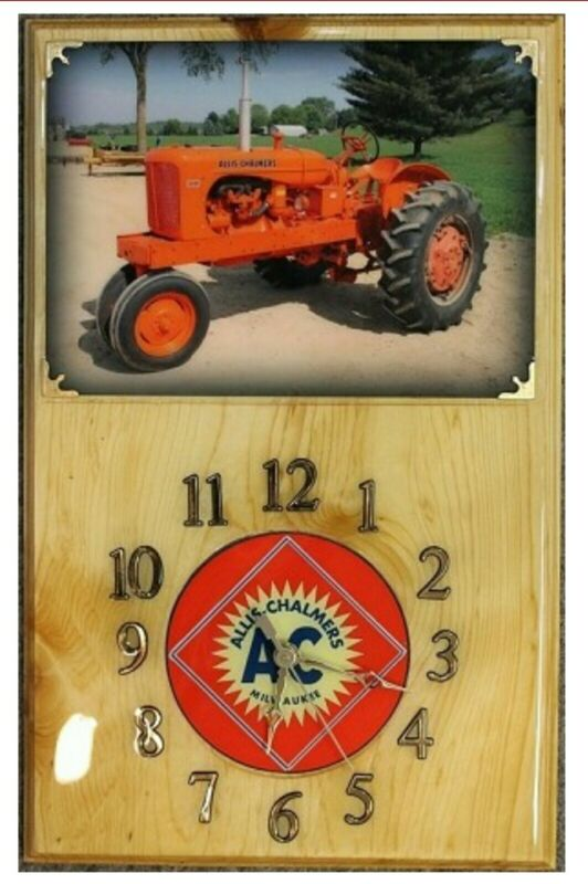 Allis Chalmers WD Wood Clock