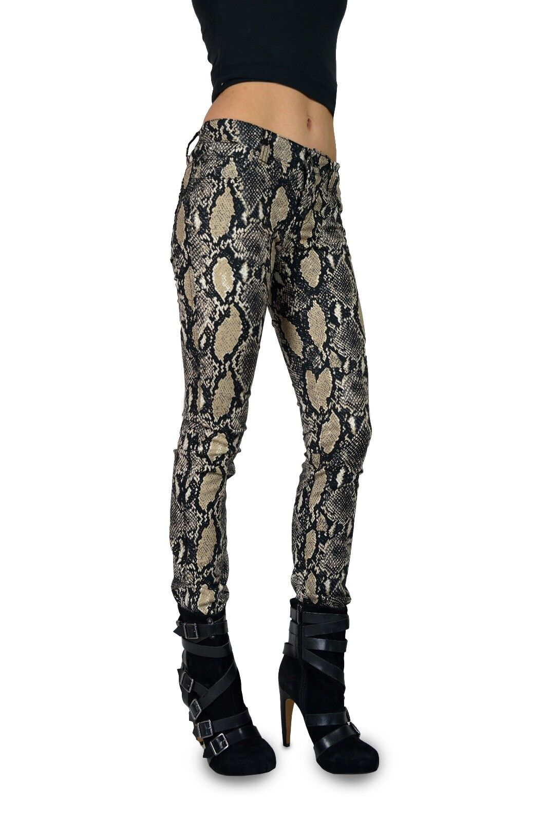 TRIPP EMO GOTH PUNK ROCK STAR NATURAL SNAKE ANIMAL METAL JEAN PANTS MOTO IL8973P Clothing, Shoes & Accessories