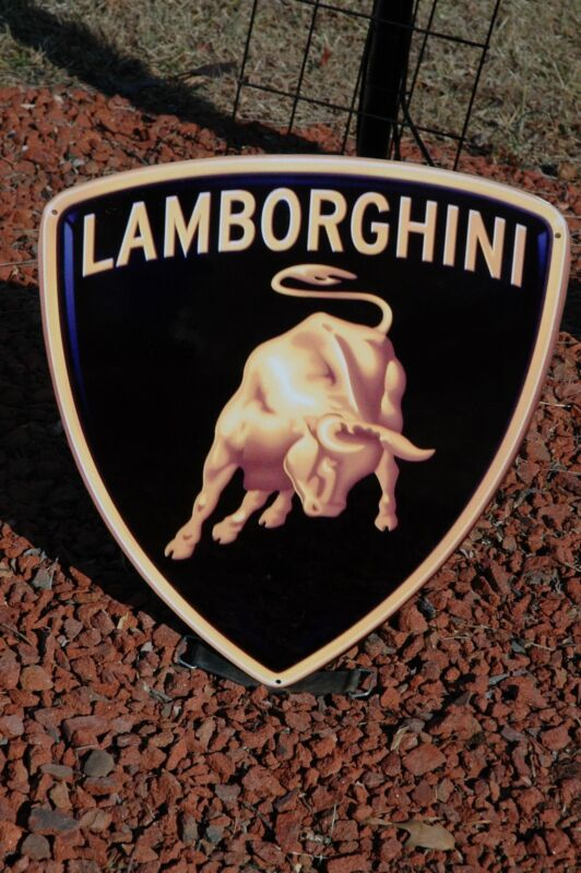OLD STYLE LAMBORGHINI HURACAN DIABLO VENENO AVENTADO ROADSTERS DIECUT SIGN SUPER