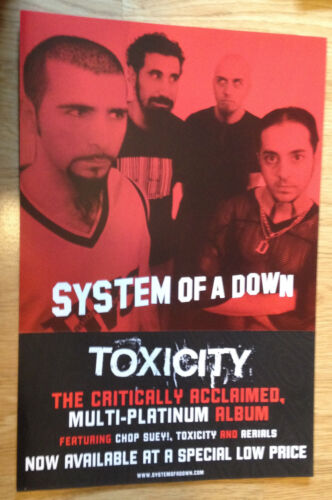 SYSTEM OF A DOWN Toxicity 12x18 original record store promo poster flat 2sided