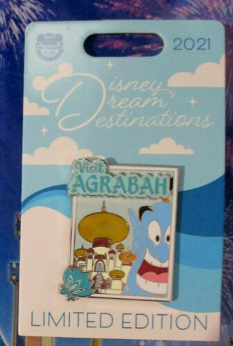 Disney - Dream Destinations 2021 VISIT AGRABAH with Genie from Aladdin Pin - LE