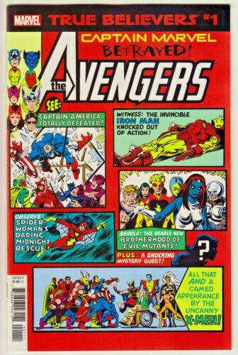 True Believers Captain Marvel 5-issue Lot (Marvel) 2019 NM