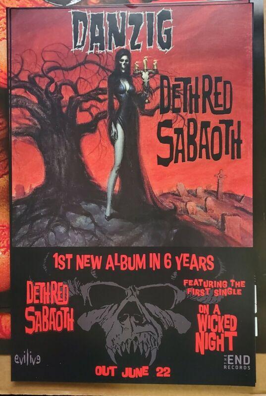 Danzig Deth Red Sabaoth 11x17 Fan Poster Samhain Misfits