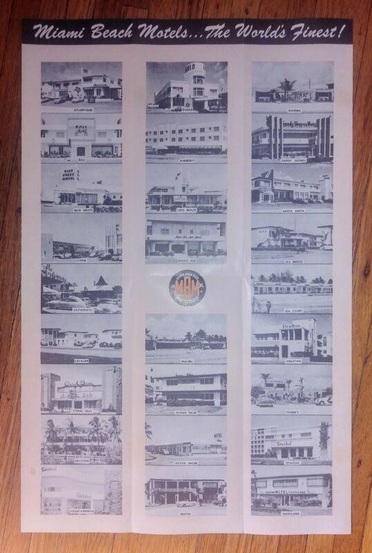 Vintage Miami Beach Motel Brochure